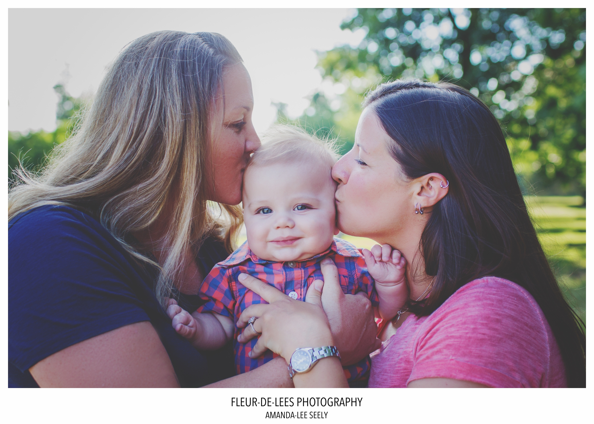 2 beautiful ladies and baby