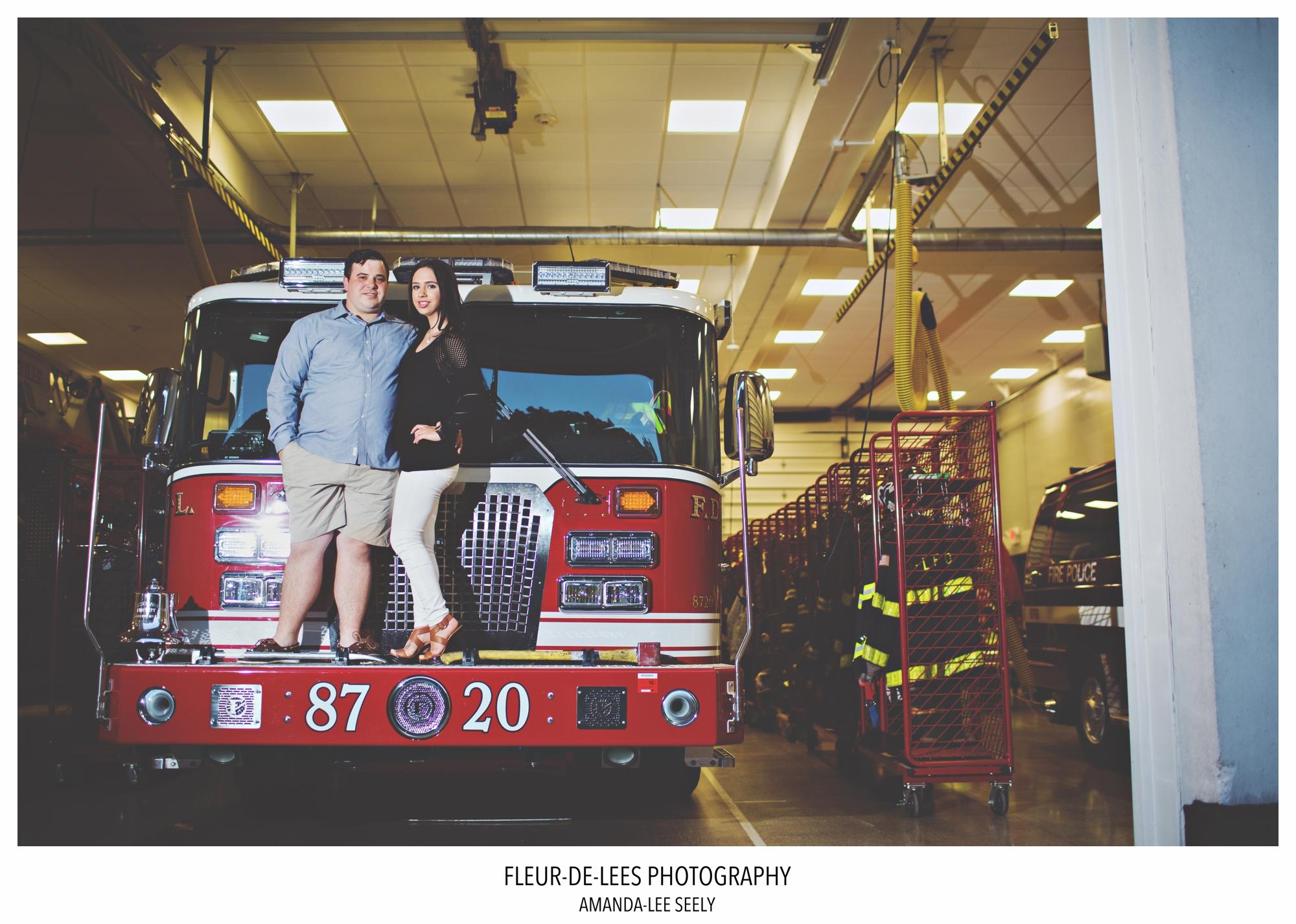 firefighter wedding photos