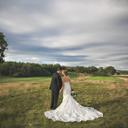 Cara and Damian. Married. Carlyle on the Green. Bethpage State park