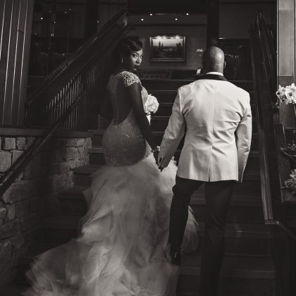 Black and White Portraits. Dramatic Vintage Wedding. Fox Hollow. Woodbury, NY