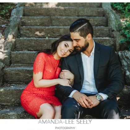 Melanie and Joe. Engaged. Fort Tryon, NYC. Long Island Wedding Photographer