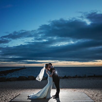 Ali and Mario. Married. Land's End. Sayville, NY. Long Island Wedding Photographer.