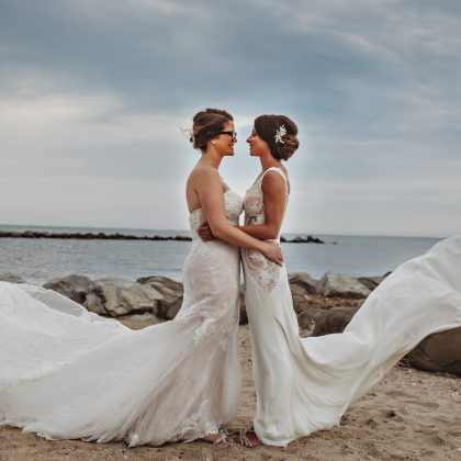 "Love is Love. Loni and Jess said ""YES!"". Lands End. Sayville, NY . Long Island Wedding Photographer"