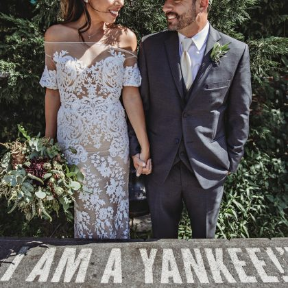 Andrea and Phil's Yankee Wedding at The Bronx Brewery. Bronx, NY. Long Island Wedding Photographer