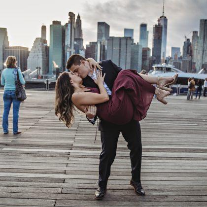 Amanda and Ryan's Dumbo Engagement Session. Long Island Wedding Photographer