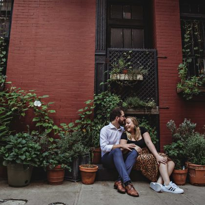 Brigid & Luca. Engagement Session. West Village, NYC. NYC Wedding Photographer
