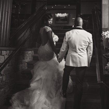 Black and White Portraits. Dramatic Vintage Wedding. Fox Hollow. Woodbury, NY
