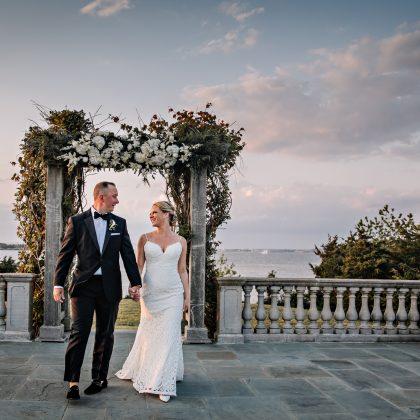 Darlene and Brian. Wed. Castle Hill Inn. Newport , Rhode Island. Rhode Island Wedding Photographer
